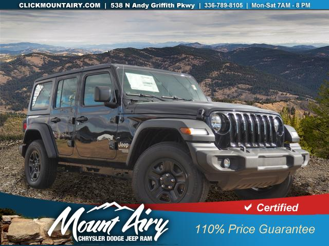 Certified Pre-Owned 2018 Jeep Wrangler Unlimited Sport 4x4